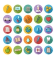 Health care doddle icons set vector image vector image