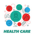 health care poster vector image vector image