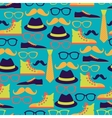 Hipster style seamless pattern vector image