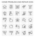 home problem icon vector image vector image