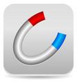 horseshoe magnet icon vector image