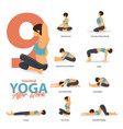 infographic 9 yoga poses for after work vector image