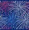 ink hand drawn seamless pattern with fireworks in vector image