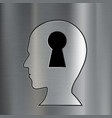 keyhole in the human head vector image vector image