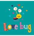 Love bug vector image vector image