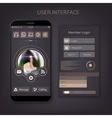 Mobile user ui kit form interface For web vector image vector image