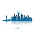 modern new york city skyline with twin towers vector image vector image