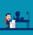 office working and health shadow business hard vector image