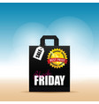 paper bag with black friday on it vector image vector image