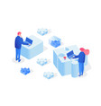 partnership team working 3d vector image vector image