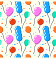 party baloon seamless pattern cartoon balloons vector image vector image