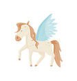 pegasus winged horse mythical creature vector image