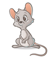 Pensive mouse vector image vector image