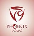 phoenix logo 7 vector image vector image