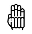 protective glove icon outline vector image vector image