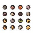 round animal avatars collection vector image vector image
