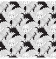 seamless pattern face and plant leaves on a vector image vector image