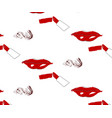 seamless pattern of lips and lipstick with spot vector image vector image