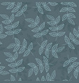 seamless pattern with leaves in a minimalistic vector image