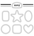 set blank frames and brushes vector image vector image