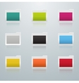 Set of Colored Folders vector image vector image