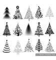Set of modern Christmas Trees vector image vector image