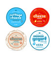 set of template label for cheese and yogurt vector image vector image