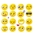 smiles set characters cute cartoons vector image vector image