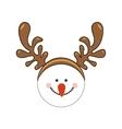 snowman cartoon icon image vector image vector image