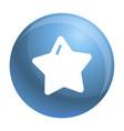 star xmas icon simple style vector image