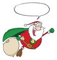 Super hero santa cartoon vector image vector image