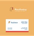 turkey logo design with business card template vector image vector image