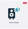 two color music player big speaker icon from vector image