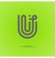 U type line design U letter vector image