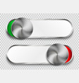 unlock buttons isolated on transparent background vector image