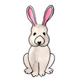 watercolor easter rabbit vector image vector image
