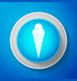 white ice cream in waffle cone icon isolated vector image