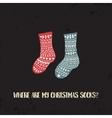 xmas socks2 vector image vector image