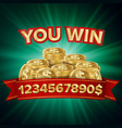 you win jackpot background jackpot sign vector image vector image