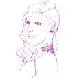 Young woman with piercing and tattoo vector image