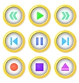 Media player buttons collection vector image