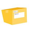 closed cardboard box cartoon vector image