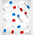 3d magnet shapes vector image