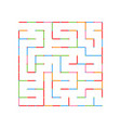 abstract colored simple isolated labyrinth vector image vector image
