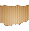 background design with brown cardboard paper vector image