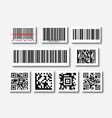 bar and qr code sticker set vector image