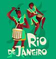 brazilian samba posters carnival in rio de janeiro vector image vector image