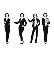 Business Woman Color Full Body vector image vector image