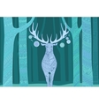 Christmas deer Merry Christmas and Happy New Year vector image vector image