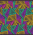 contrast seamless pattern with colorful triangles vector image vector image
